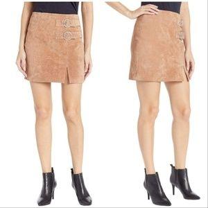BlankNYC Suede Mini Skirt - Tan, Sz 31